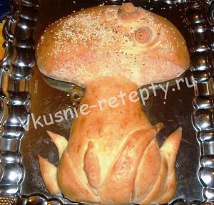 пирог в форме гриба фото