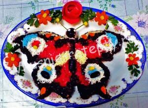 cалат бабочка рецепт с фото