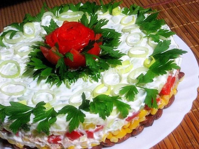 И рецепты салатов красивых
