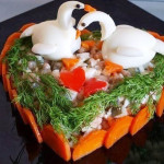 салат в форме сердца фото