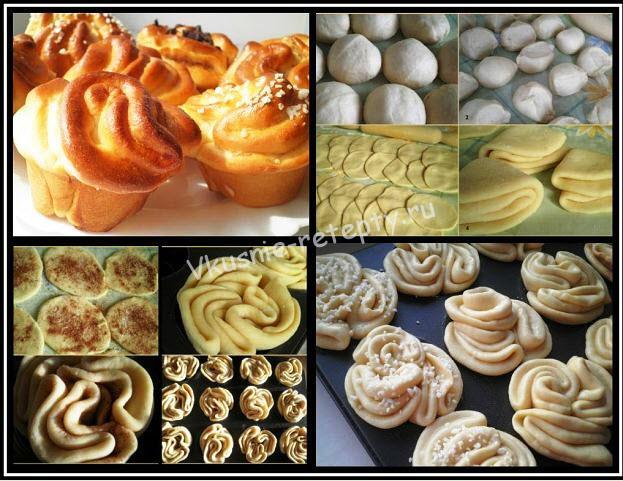 Формы сдобные булочки из дрожжевого теста рецепты