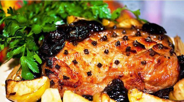 свинина с черносливом рецепт с фото