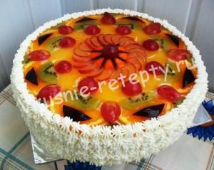 фруктовый торт с  желе фото