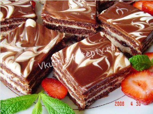 шоколадное пирожное фото
