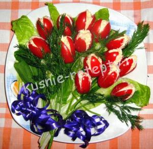тюльпаны из помидоров рецепт с фото