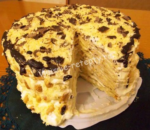 торт Наполеон на сковороде фото
