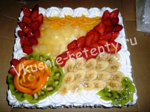 торт с фруктами в желе фото