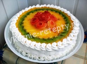 торт с фруктами в желе рецепт фото