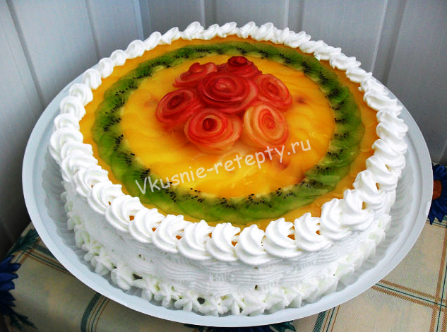 торты с фруктами и желе рецепты с фото