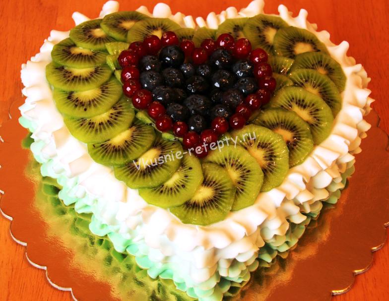 Торты с фруктами рецепты 75