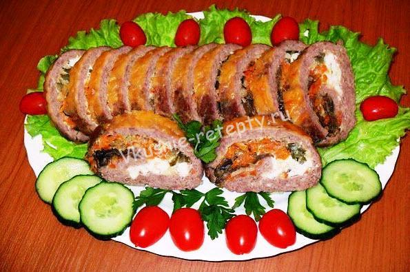 мясной рулет рецепт фото