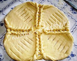 пирог из дрожжевого теста сладкий фото