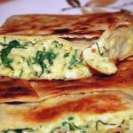 Пирог из лаваша с сыром и зеленью фото