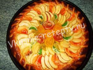 Пирог Осенний букет фото