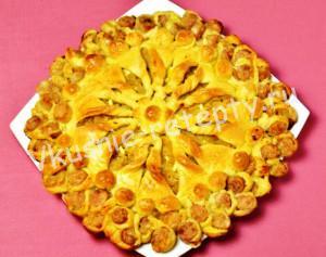 плетеный пирог с капустой фото
