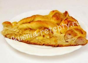 плетеный пирог с капустой рецепт сфото