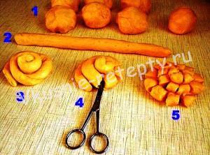 плюшки хризантемы рецепт с фото