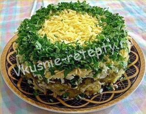 салат грибы под шубой фото