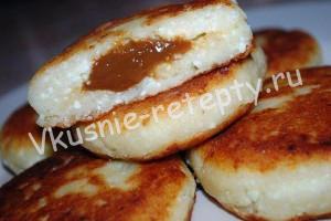 сырники с вареной сгущенкой фото