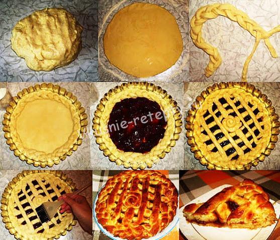 сладкий открытый пирог фото