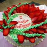 клубничный торт со сметанным кремом фото