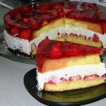 клубничный торт без выпечки фото