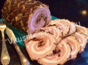 рулет из свиной грудинки рецепт с фото