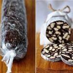 шоколадное салями фото