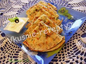 Сырные блинчики с зеленью фото