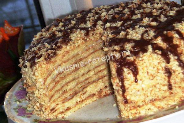 рецепт пирожное лакомка с фото