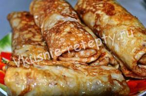 вкусные блинчики рецепт с фото