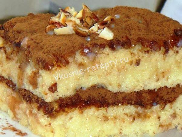 Бисквитный торт с пропиткой рецепт с фото