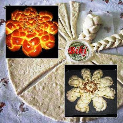 Дрожевой пирог Цветок рецепт фото