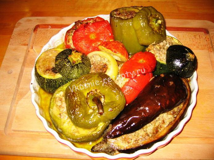 Фаршированные овощи фото