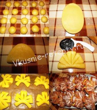 Печенье из дрожжевого теста фото