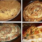 Блинный пирог с грибами и сыром фото