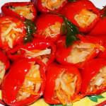 Сладкий перец фаршированный овощами на зиму фото