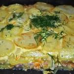 Картофельная запеканка с сыром фото
