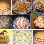 салат с крабовым мясом фото