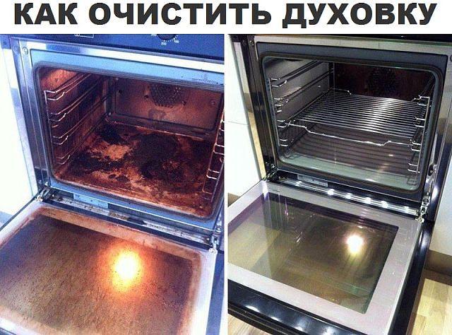 Как чистить духовку