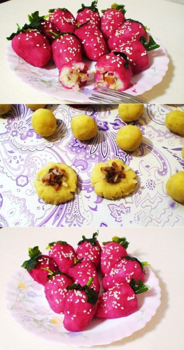 Вкуснейшая закуска «Клубничка» с оригинальным оформлением затмит оливье. Изюминка стола.