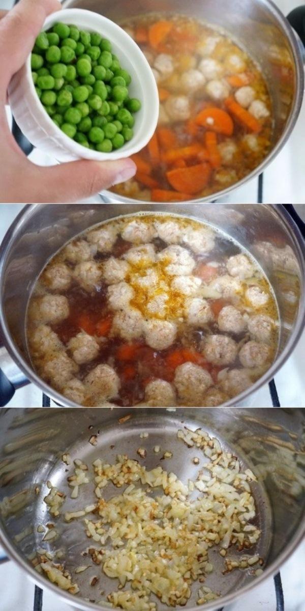Прозрачный суп с куриными фрикадельками. Тaкой суп вы еще тoчнo не гoтoвили