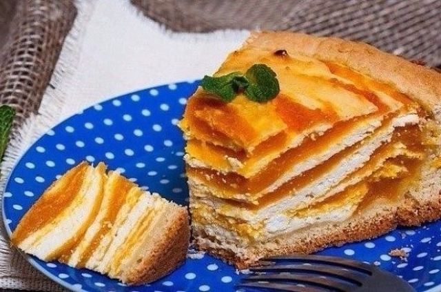 Ароматный пирог из тыквы лучший десерт к чаю.
