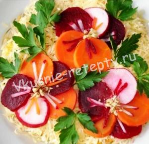 салат Анютины глазки фото