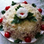 салат с сухариками рецепт с фото