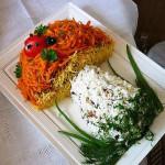 салат в форме гриба рецепт сфото