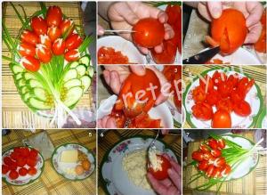 тюльпаны из помидоров фото