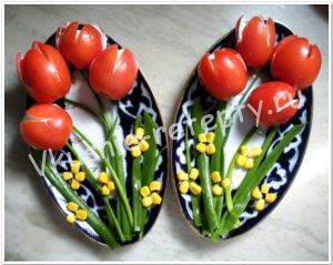 тюльпаны из помидоров рецепт фото