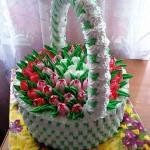 торт Корзина с цветами фото