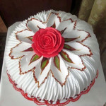 бисквитный торт с белковым кремом фото